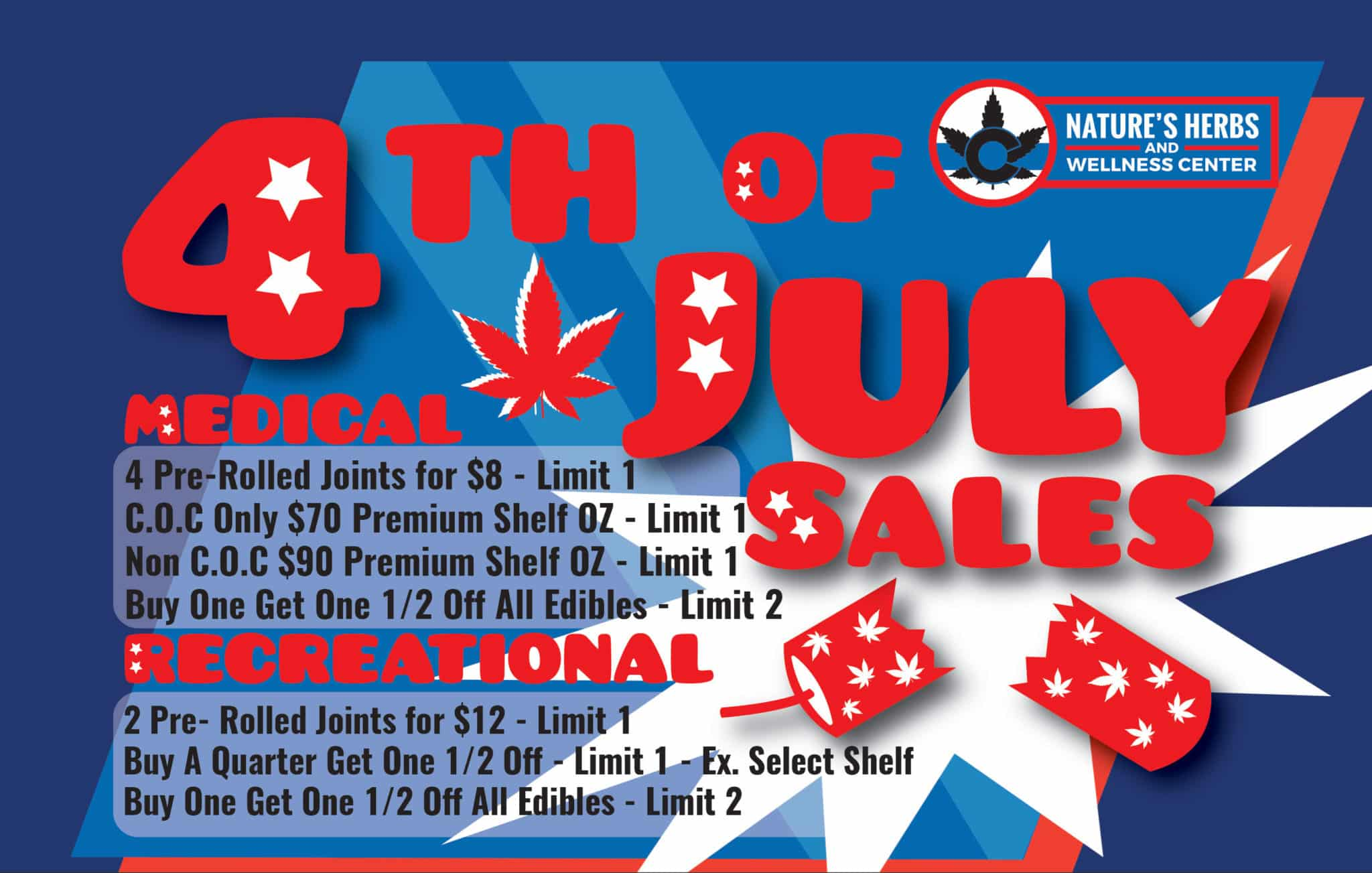 Nature's Herbs and Wellness | 4th of July Sales