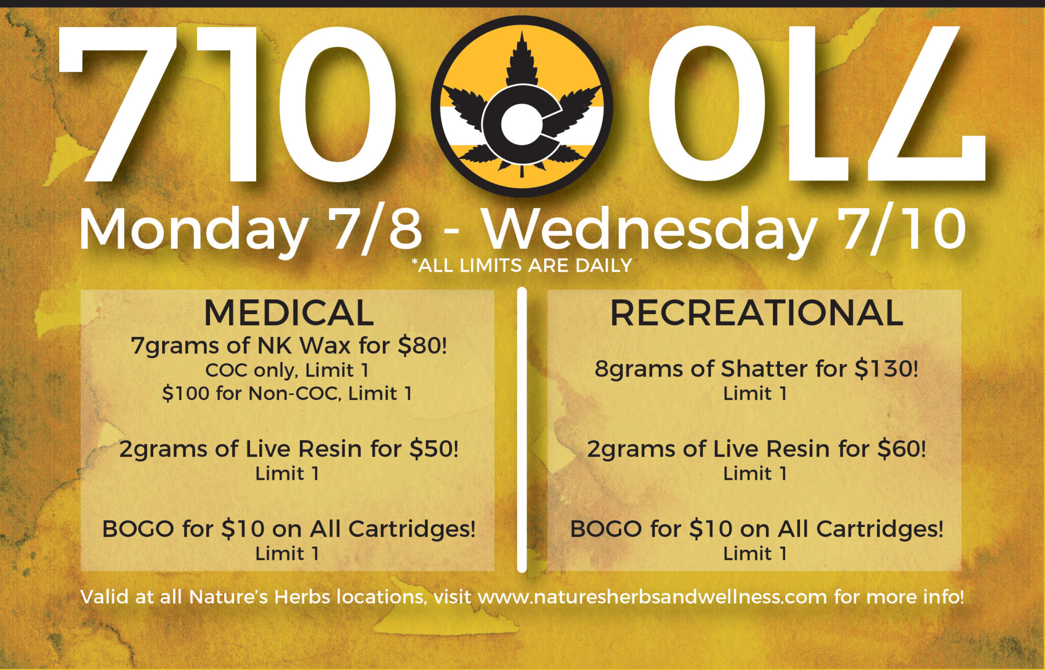 Natures Herbs and Wellness | 710 OIL Sales