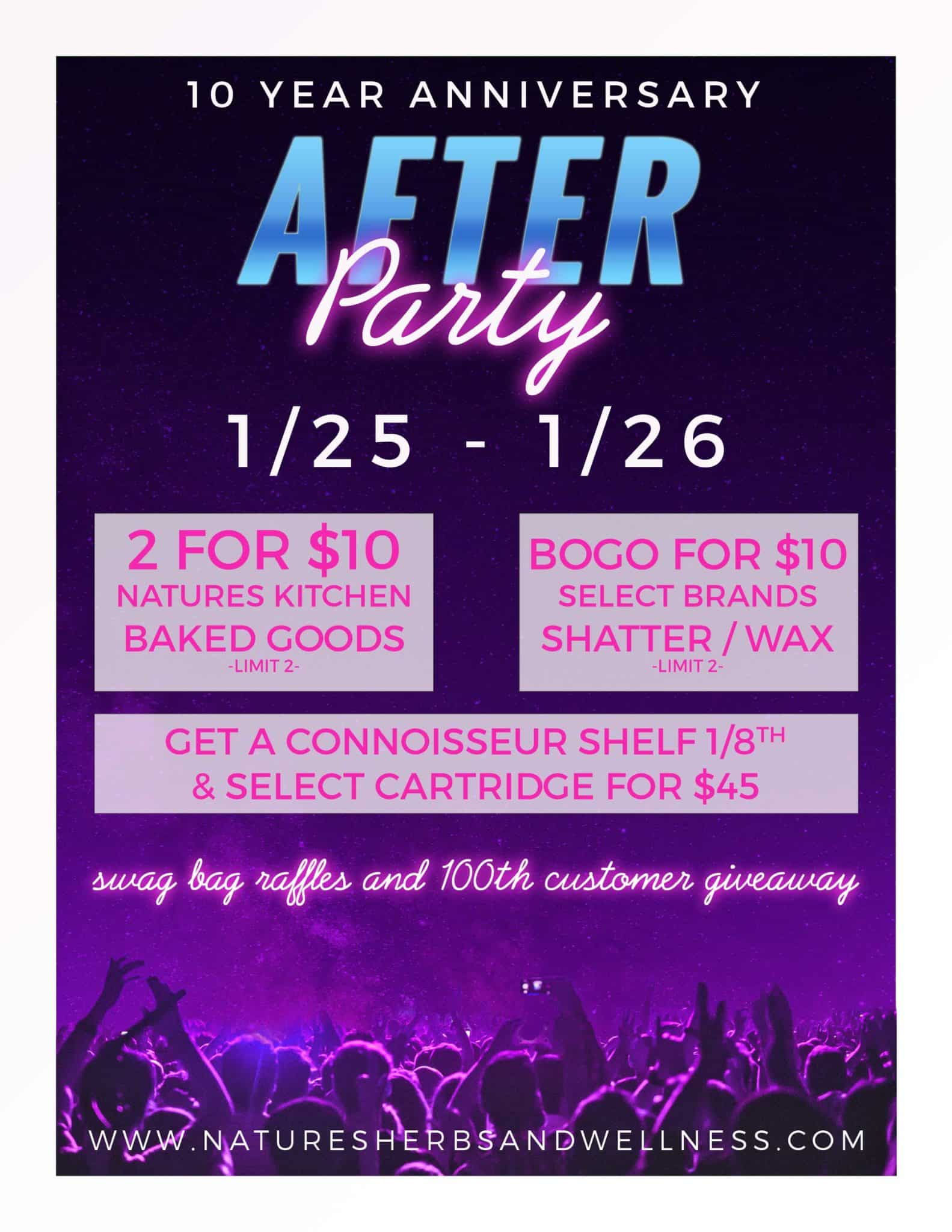 10 Year Anniversary – After Party – January 2020