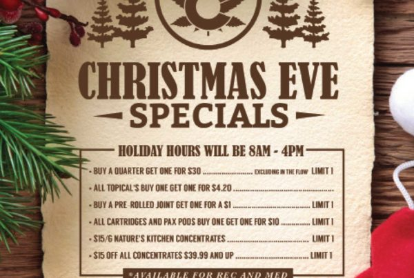 Nature's Herbs and Wellness Christmas Eve Specials