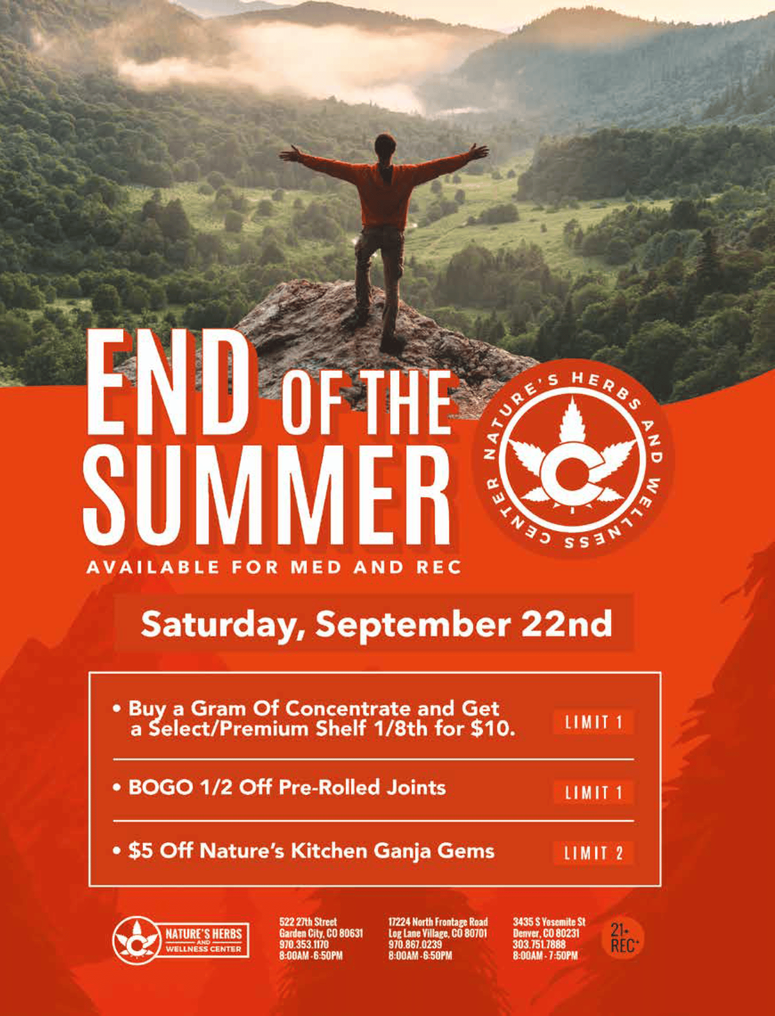 Nature's Herbs End Of The Summer Sale