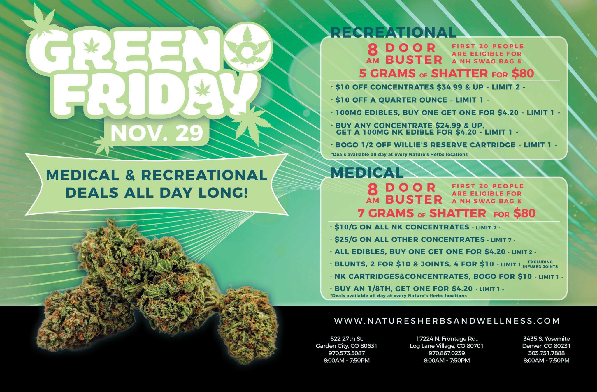 Green Friday Sale – November 2019