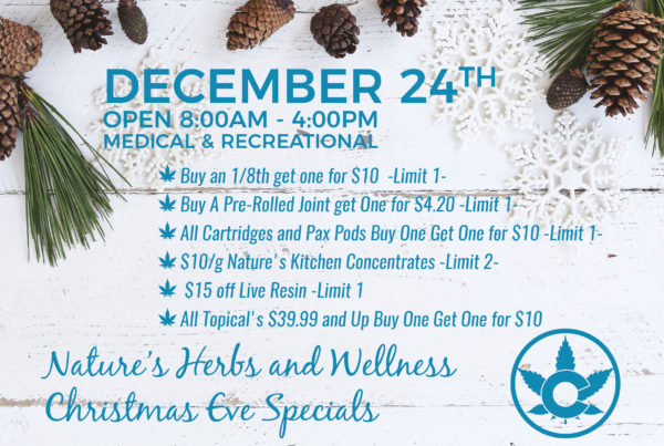 Nature's Herbs and Wellness Christmas Eve Sale