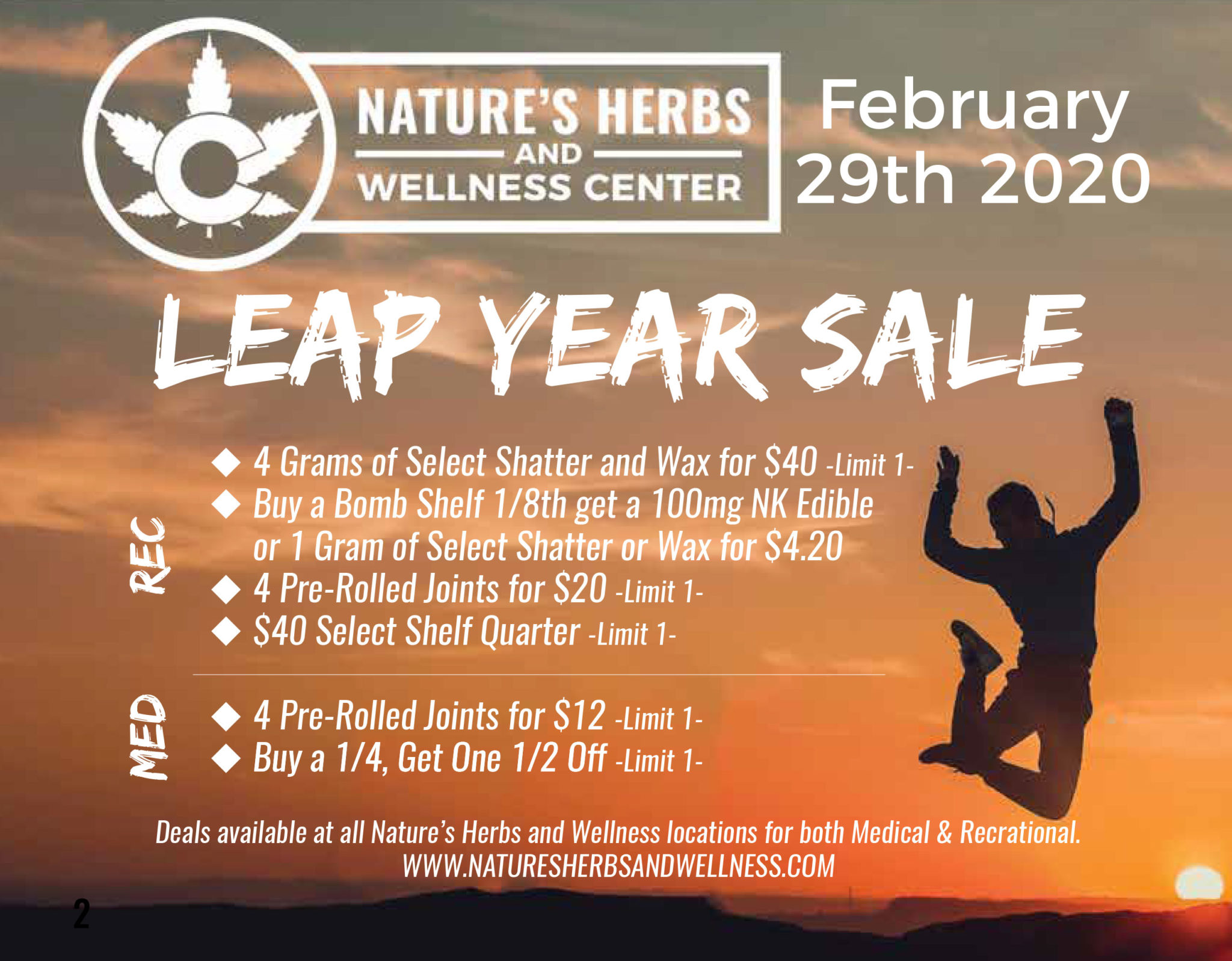 Nature's Herbs Leap Year Sale