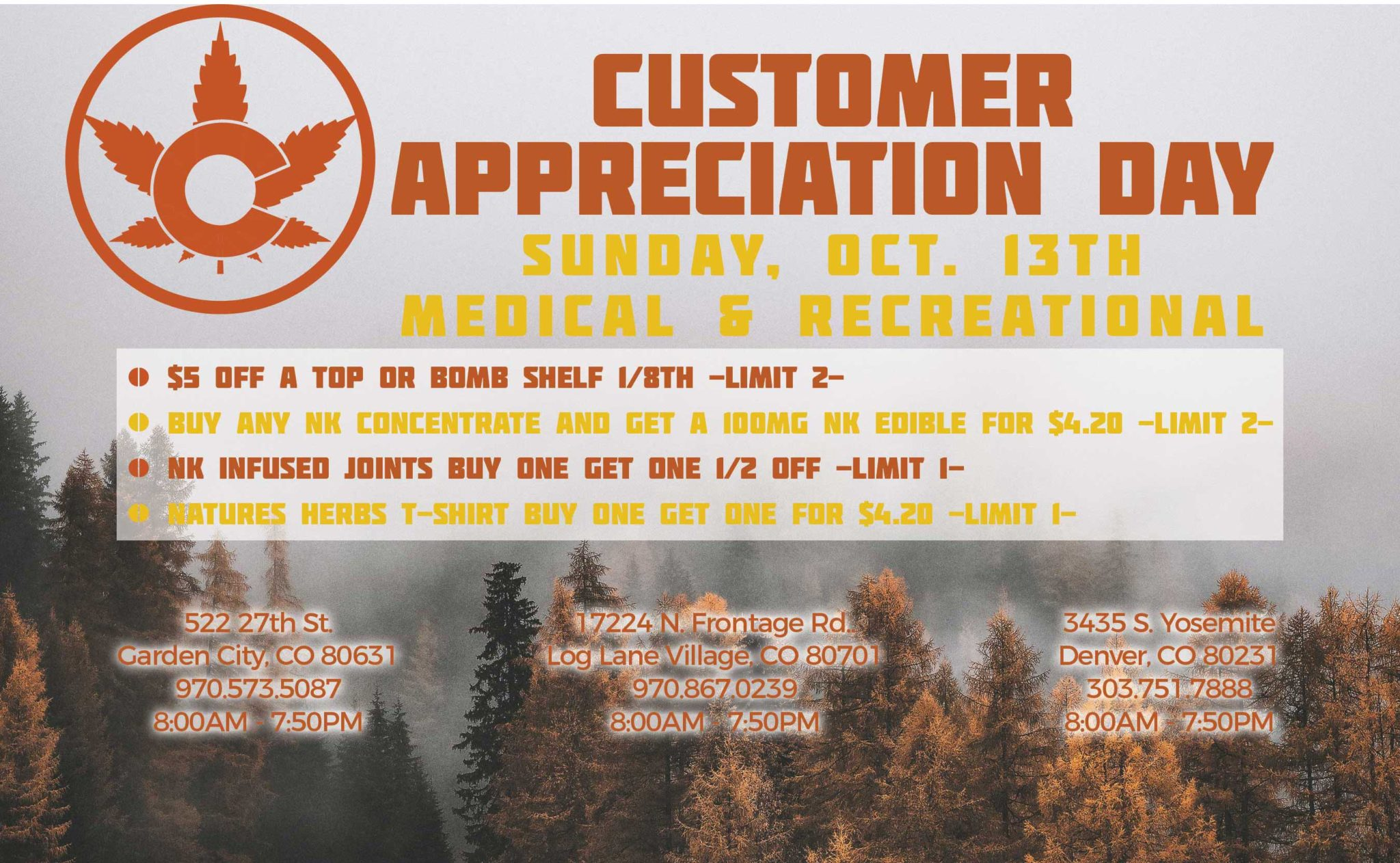 Nature's Herbs Customer Appreciation Day - October 2019