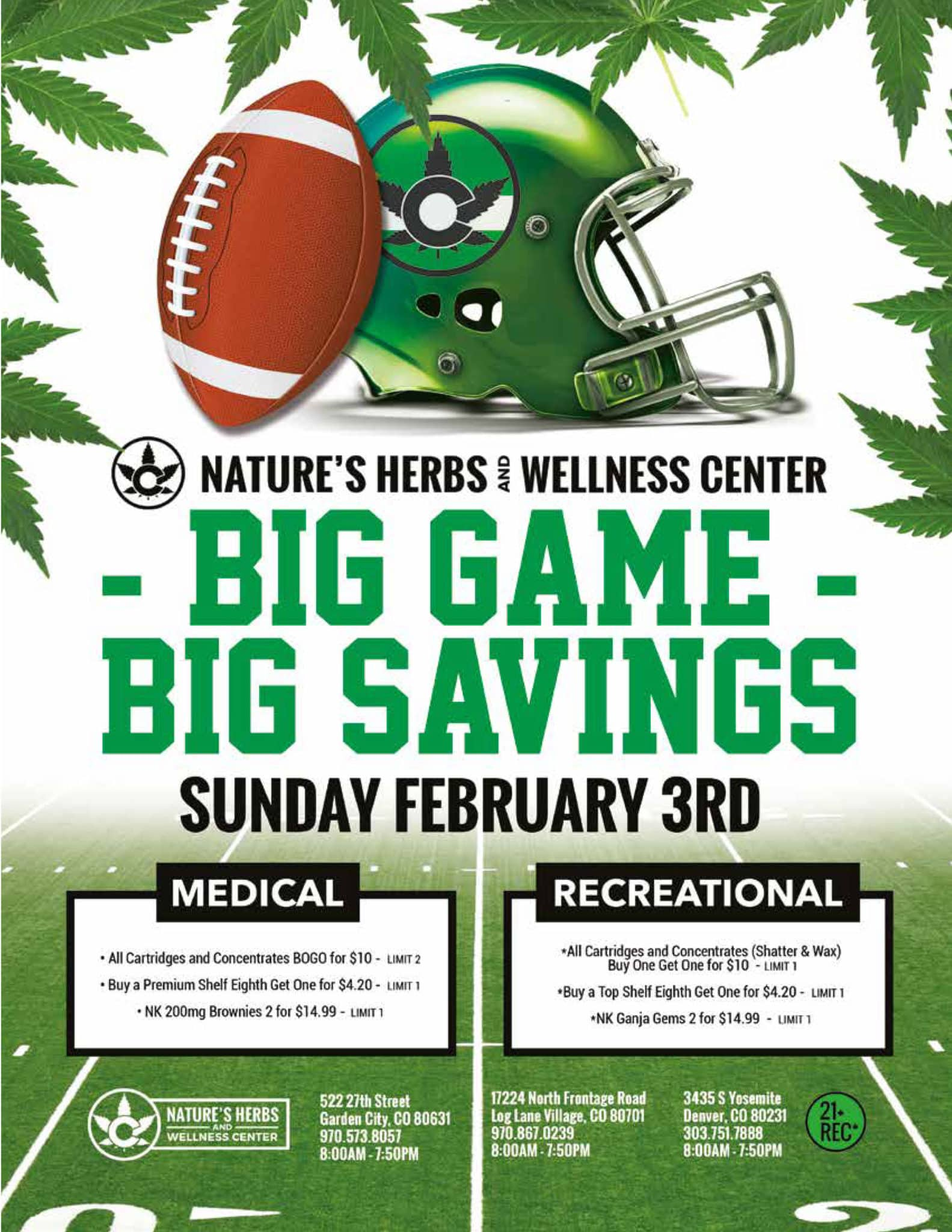 Nature's Herbs and Wellness | Big Game, Big Savings | Super Bowl Sale