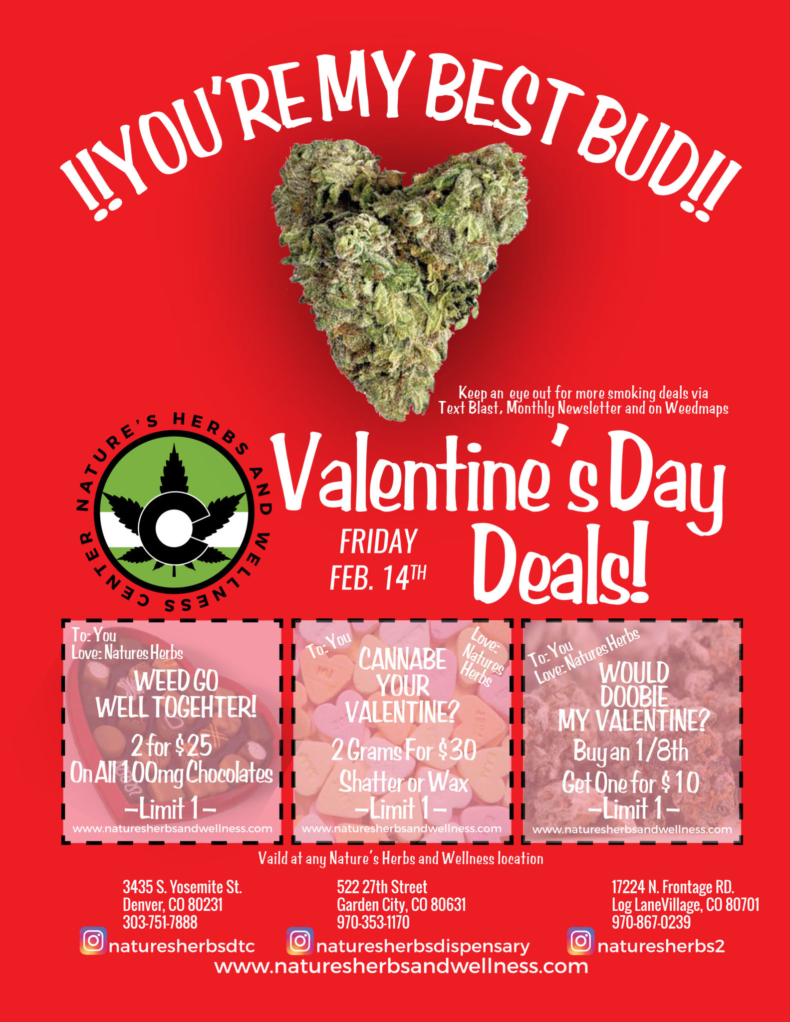 Nature's Herbs Valentine's Day Deals