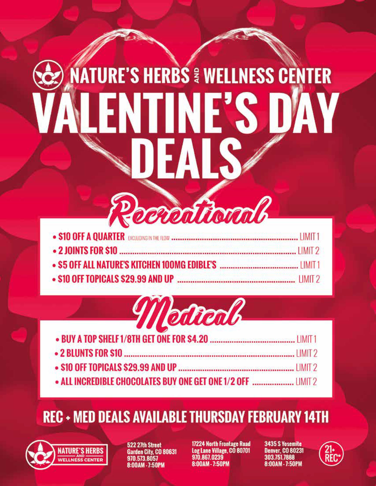 Nature's Herbs and Wellness   Valentine's Day Deals