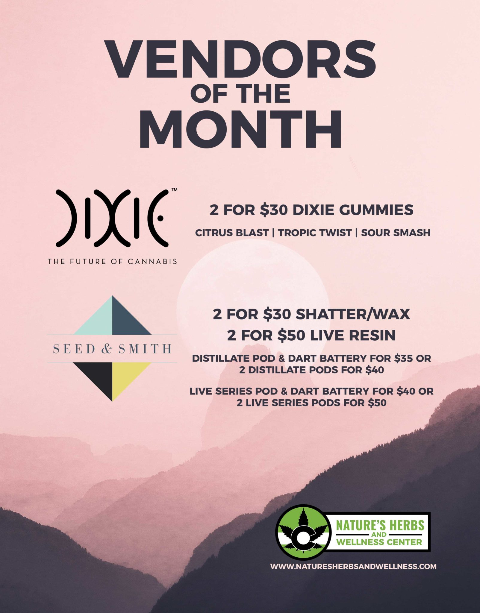 Nature's Herbs and Wellness | Vendors of the Month