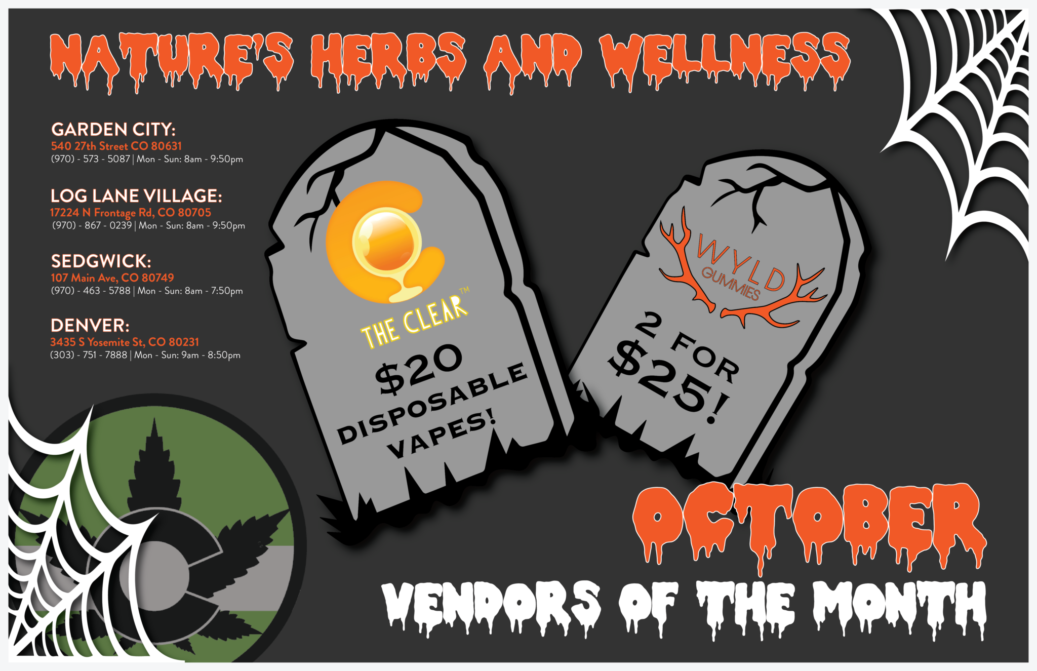 Vendors of the Month – OCTOBER!