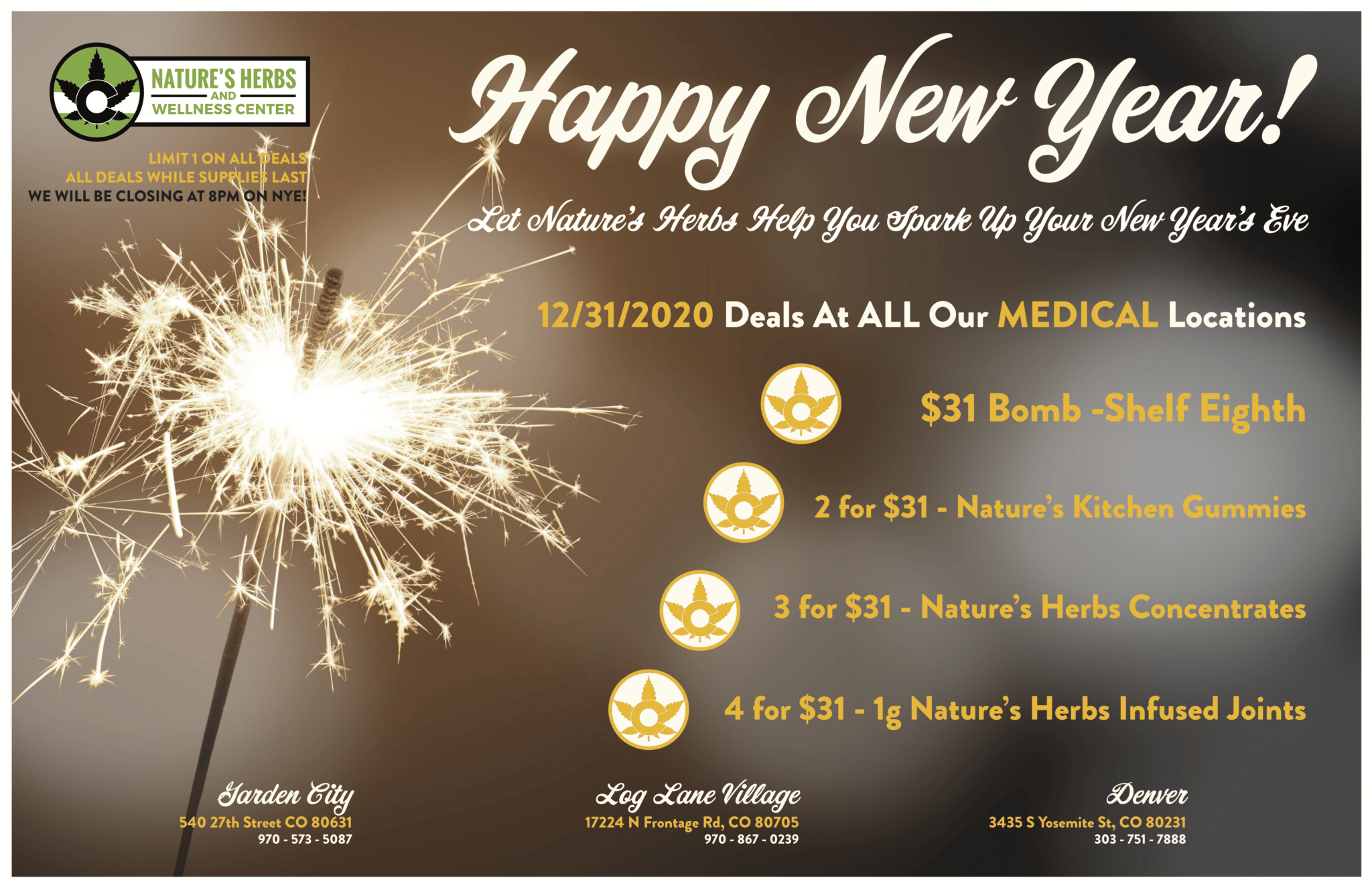 Medical New Years Eve Specials