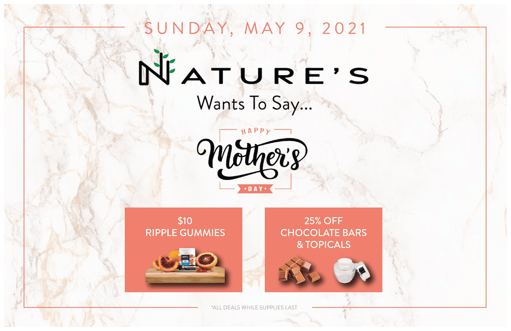 Mother's Day Sale at All Nature's Rec Locations!