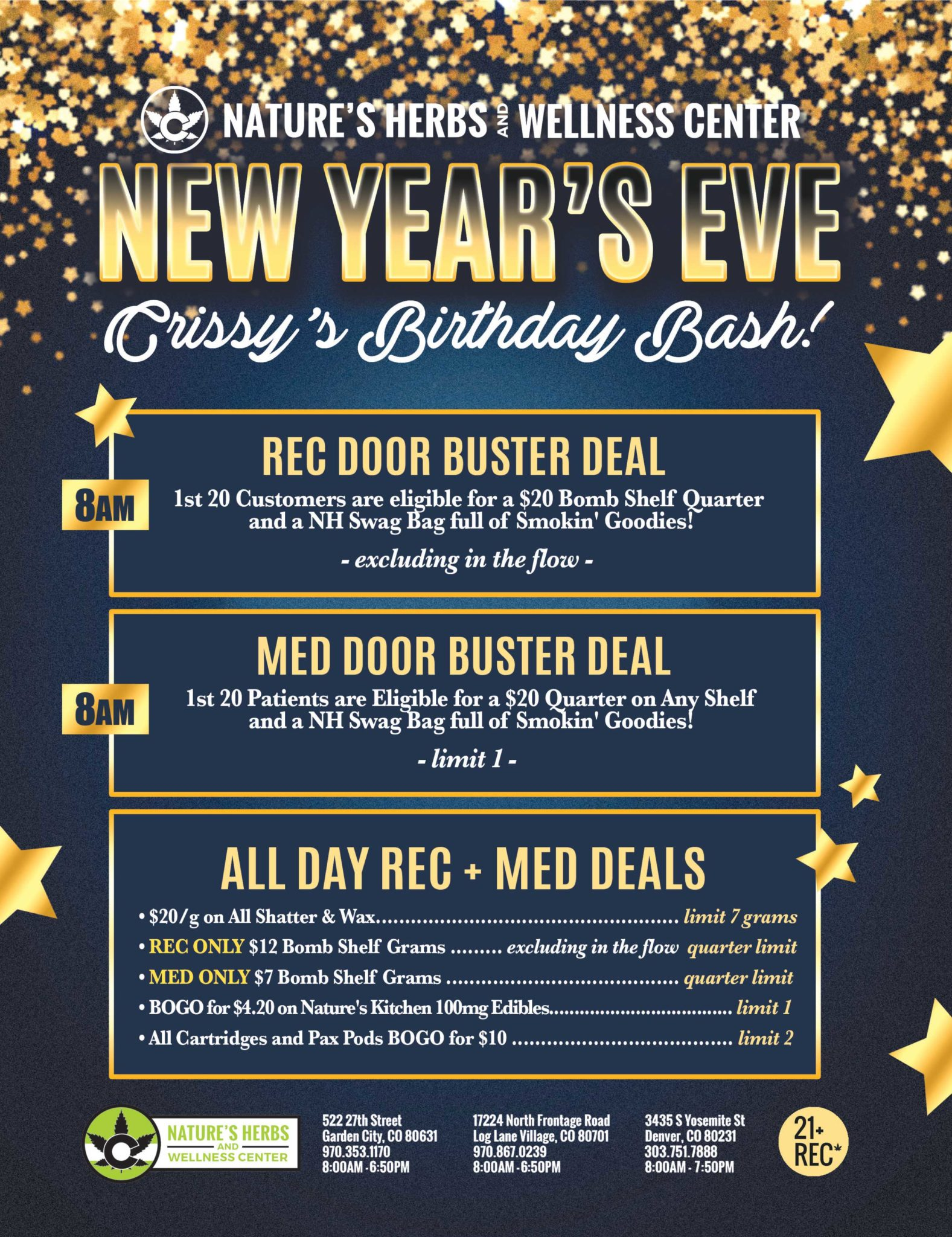 New Year's Eve Crissy's Birthday Bash! – 2018