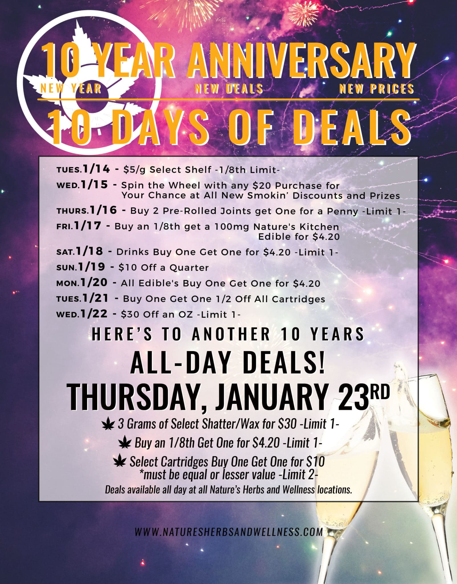 Nature's Herbs 10 Year Anniversary   10 Days of Deals