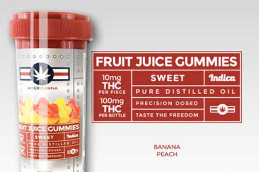 Americanna 10mg THC Fruit Juice Gummies | Nature's Herbs and Wellness