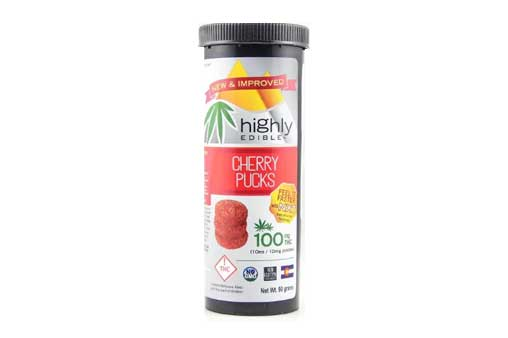 Highly Edible 100mg THC Cherry Pucks | Nature's Herbs and Wellness